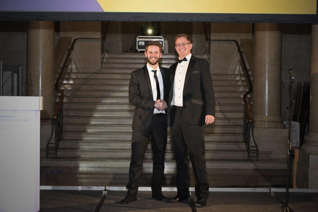 Lloyd Morgan presenting Rockadove Third Sector Prize